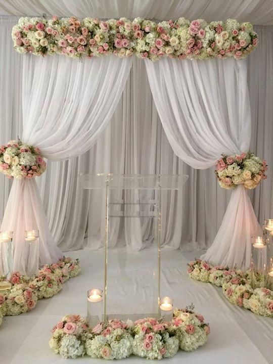 15 Beautiful Curtains Decorations For Birthday Parties Artcraftvila Diy Wedding Backdrop Wedding Backdrop Wedding Centerpieces