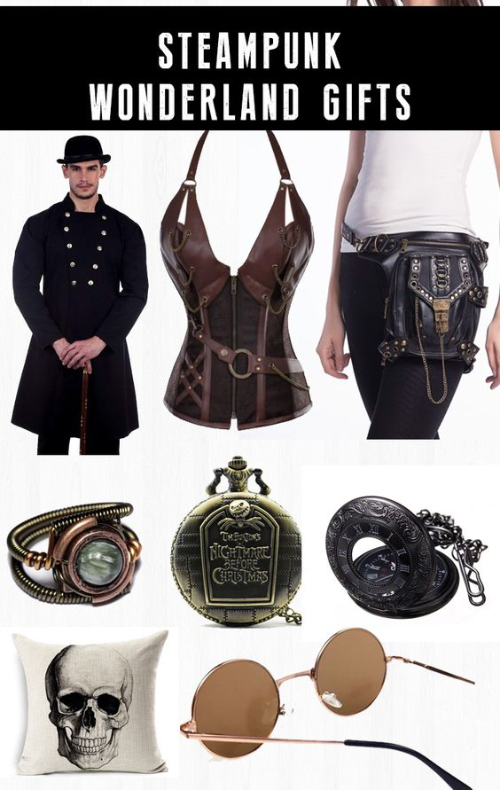 Shop steampunk goth Christmas gifts for men and women at RebelsMarket.
