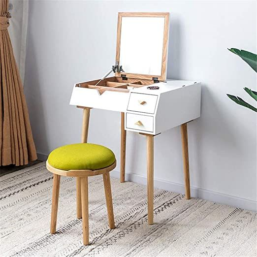 Penganguo Vanity Table Dressing Table Small Multifunctional Bedroom Flip Type Simple Min In 2020 Dressing Table Vanity Bedroom Dressing Table Dressing Table With Chair