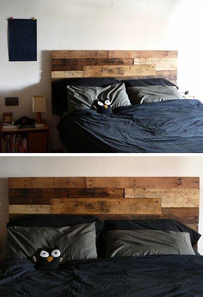 t te de lit en palettes pallet pinterest. Black Bedroom Furniture Sets. Home Design Ideas