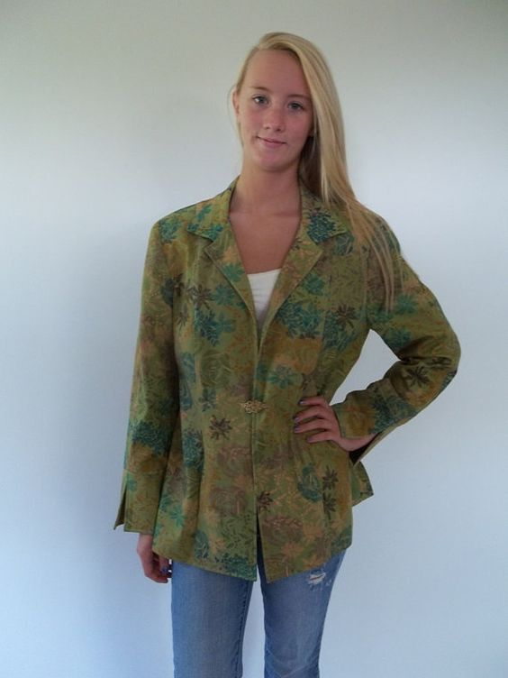 SALE Jacket / Blazer beautiful green with by LilaCInspirations, $25.00