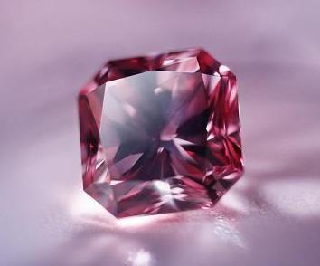 The Argyle Siren, a 1.32-carat square, radiant-cut fancy vivid purplish pink diamond. #pinkdiamond