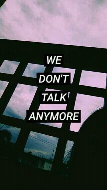 we went from talking everyday, to being strangers