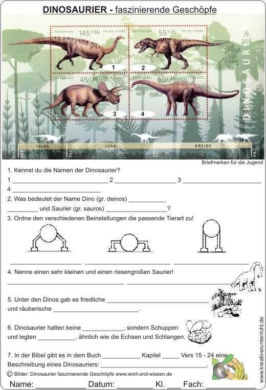 Dinosaurier Faszinierende Geschopfe Arbeitsblatt Mit Losung Dinosaurier Kreativer Unterricht Sexualerziehung