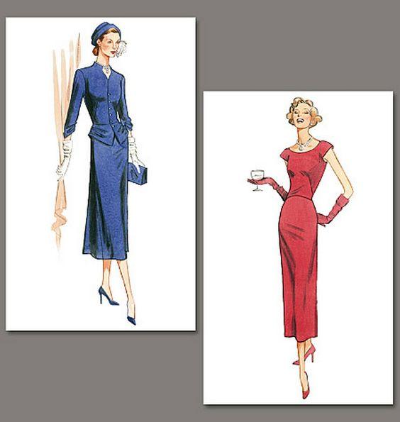 Vintage Vogue 1136. Original 1945 design. Misses' Jacket and Dress ...