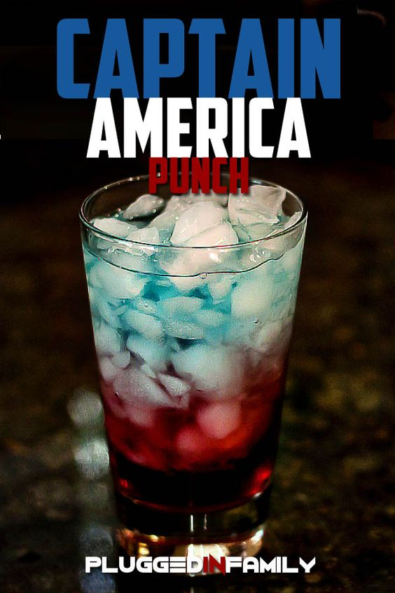 Captain America Punch recipe | For your little superheroes ...