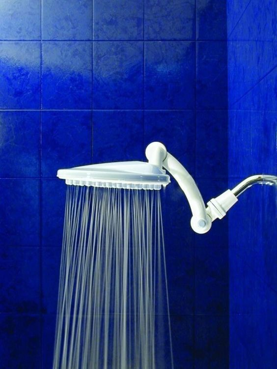A waterfall shower head attachment that will make you feel like you're bathing in a fancy jungle villa.