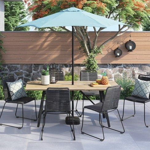 Target Cadima Rectangle Eucalyptus Wood Patio Dining Table From