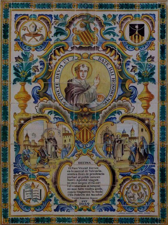 San Vicente de Ferrer, cerámica valenciana de José Gimeno/ Andrea Villaseñor: