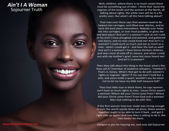 sojourner truths aint i a woman essay Far from the truth: teaching the politics of sojourner truth's ain't i a woman  article (pdf  sion in their essay, not the gage version that includes the dialect.