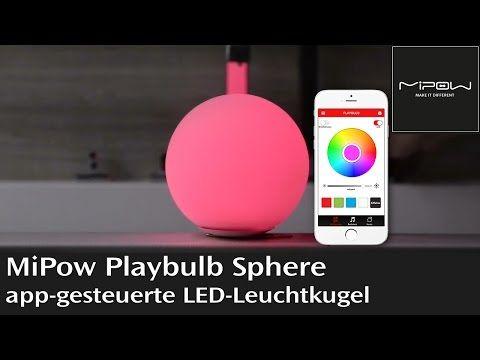 Simple MiPow Playbulb Sphere LED Leuchtkugel mit App Steuerung und Farbwechsel