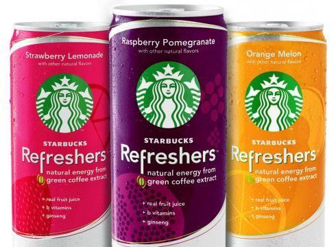 Energy drinks from Starbucks