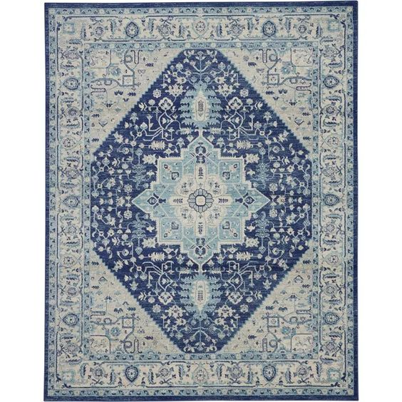 Nourison Tranquil Tra06 Distressed Traditional Area Rug In 2020 Oversized Area Rugs Traditional Area Rugs Area Rugs