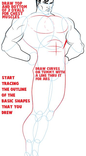 how to draw superman step by step