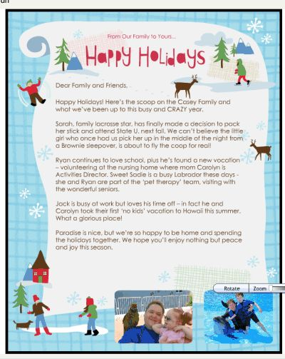 How to Create an Electronic #Christmas Letter with Smilebox #holidays