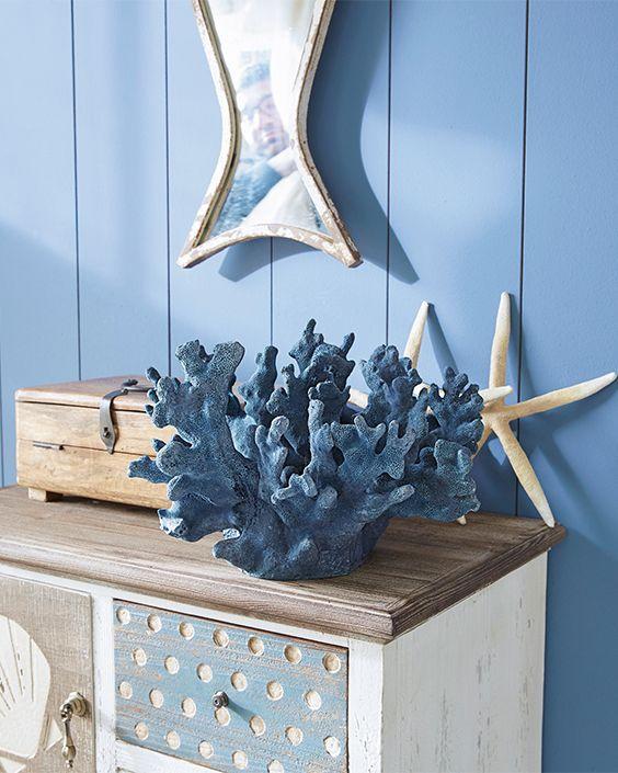 Decoratief Koraal Shelbie Loberon Decoraties Blauw Decoratie