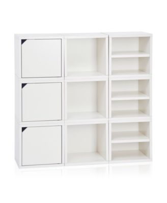 Way Basics Eco Stackable Connect Storage Cube With Shelf And Cubby