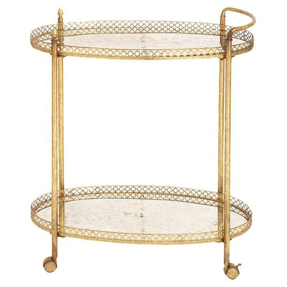 Velma Mirrored Serving Cart $161.99
