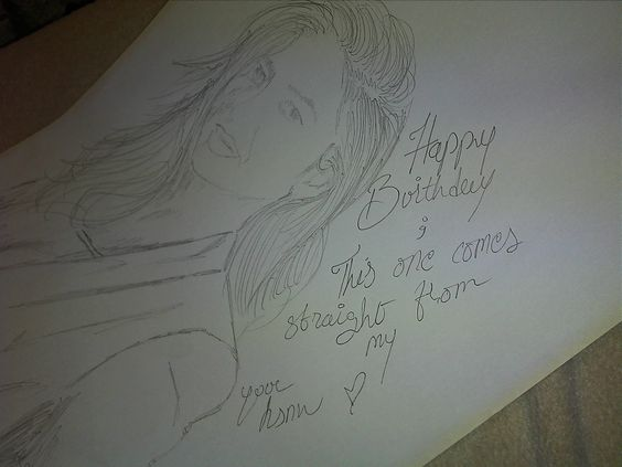 mahira khan sketch, just to say her happybday