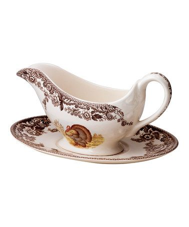 Another great find on #zulily! Woodland Turkey Sauce Boat & Stand by Spode #zulilyfinds