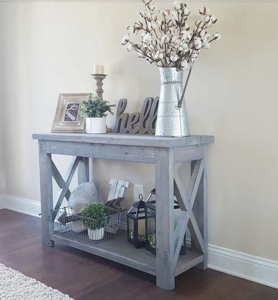 Custom Made Console Table One Shown Is Approx 40 Long X 12 Wide X 40 Tall Custom Sizes Available Can Be Staine Home Decor Entryway Decor Cheap Home Decor 40 tall console table