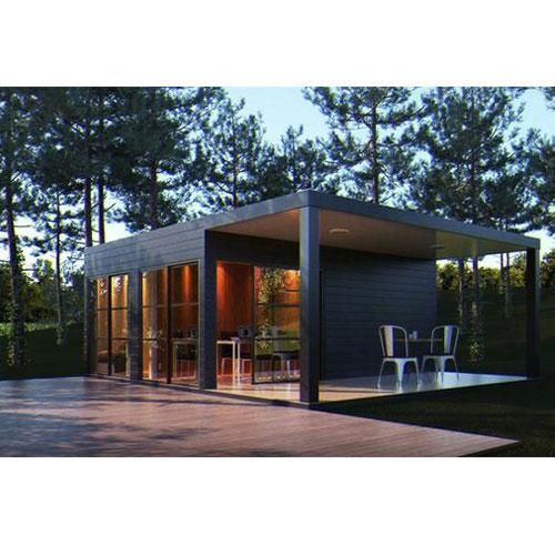 Sierra Nevada 1 Bedroom Container Home With Covered Deck Flat Pack Kit Simpleterra Container House Architecture Shipping Container Homes