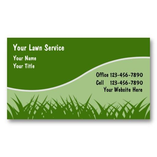 Lawn Business Cards   Lawn Service Business Cards   Pinterest ...