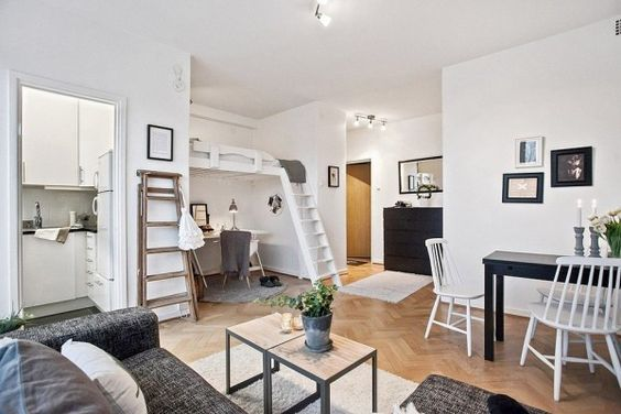 Small Studio Apartments Small Studio And Lofted Beds On