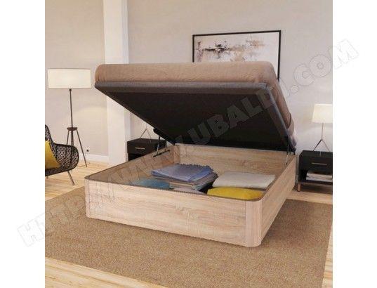 lit coffre spiro 140 x 190 cm structure