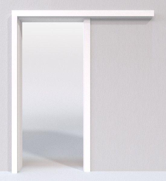 Weiss 9010 Lebolit Schiebetur System Vor Der Wand Laufend Lebo