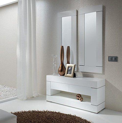 Recibidores de dise o en madera modelo duo decoraci n - Recibidores de diseno italiano ...