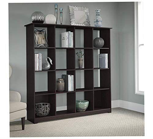 Wood Style Home 16 Cube Bookcase In Espresso Oak Office Decor
