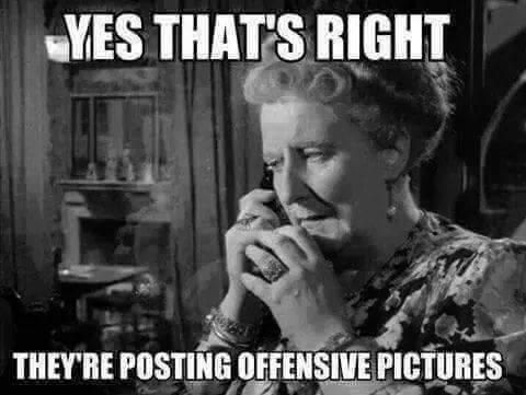 if they're offensive to you - then leave