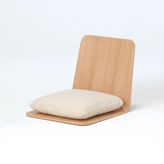 Ash floor chair by muji is designed to utilise space - Como hacer un sofa paso a paso ...