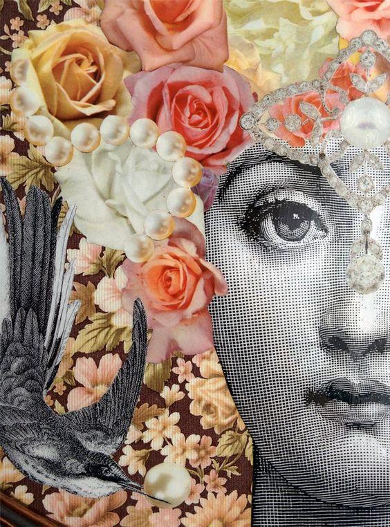 Decoupage original inspiración Fornasetti papel pintado | Etsy