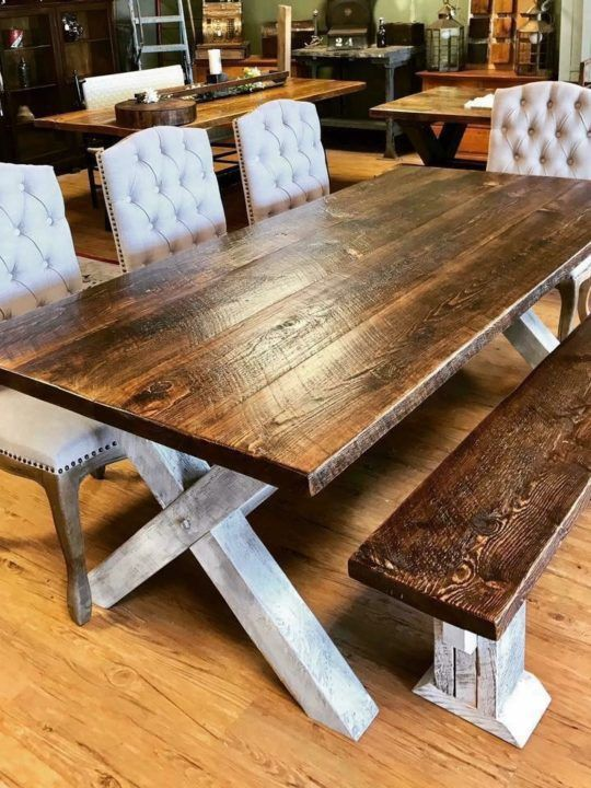 Farm Style Table 8 X 3 Chic Antique Kitchentable Kitchentablebooth Kitch Farmhouse Dining Room Table Rustic Kitchen Tables Farmhouse Dining Table