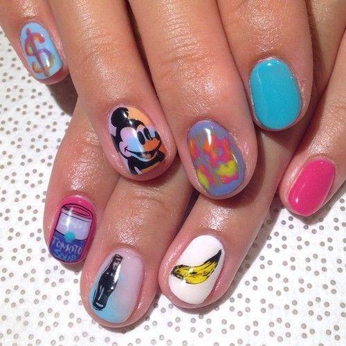 @mikutsutaya #AndyWarhol #handpainted #gelnail #nailart #nails #vanityprojects (at Vanity Projects)
