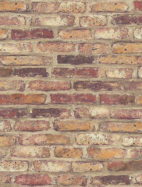 Country Rustic Brick Peel And Stick Wallpaper Rustikal Tapeten Haus Dekoration