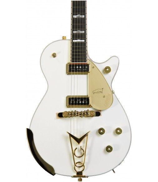 Gretsch White Penguin Ebony Fingerboard And 2 Dynasonic Single Coil Pickups White Gretsch Learn Guitar Guitar
