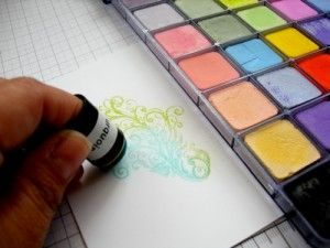 ideas for chalk pastels, sponge daubers, versamark and more