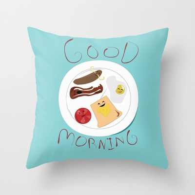Good Morning  Throw Pillow by Elliot Swanson  - $20.00