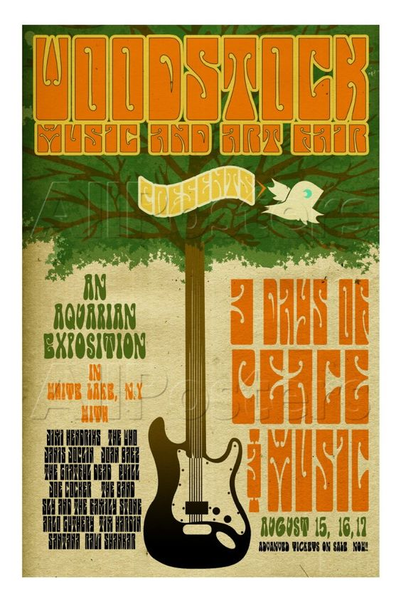 Woodstock (1969); Tags:  #Music #Advertising #Vintage