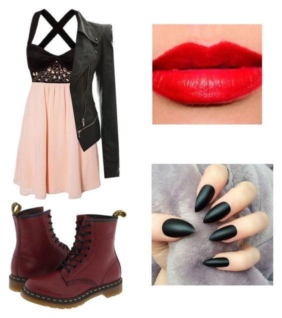 """untitled #33"" by daniella0522 on Polyvore featuring Dr. Martens and Estée Lauder"
