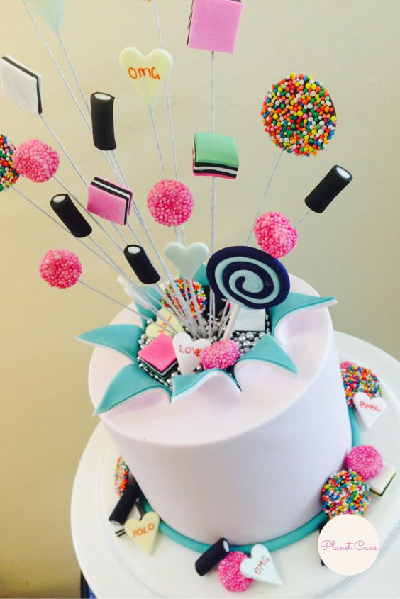 Exploding Lollies Cake   Planet Cake Basics 101 Class   How to Decorate a Round Cake (The Basics Series is a 10 module education program)