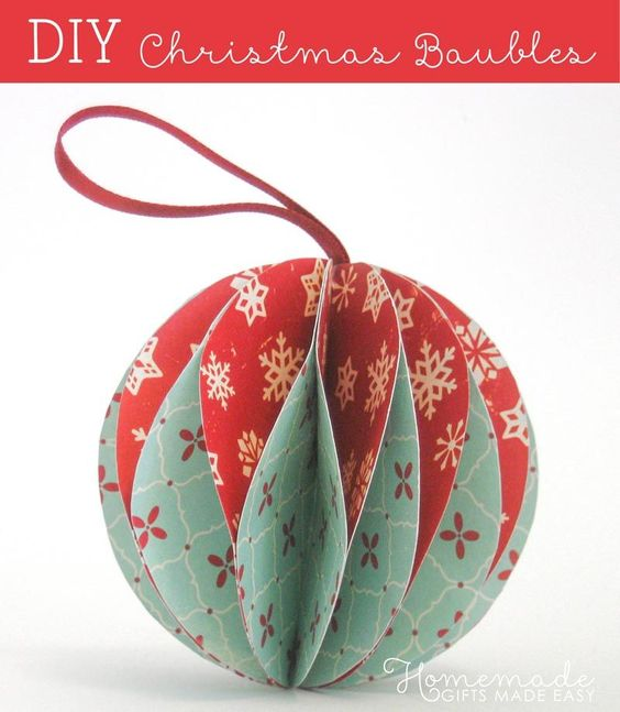 How to make gorgeous paper Christmas ornaments: