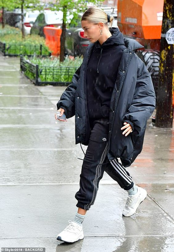 Hailey Baldwin steps out in the rain in NYC while celebrating mother's day and her father's birthday