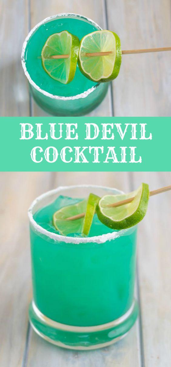 BLUE DEVIL COCKTAIL RECIPE #Cocktail #Drinks