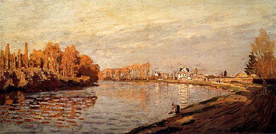 "Claude #MONET, ""THE SEINE AT ARGENTEUIL"" 1872 #ilovemonet #art #artwit #twitart #followart #iloveart #artist"