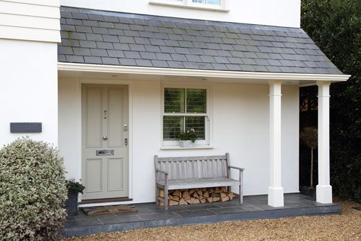Try Farrow and Ball French Gray for similar door colour. Modern Country Style: Contemporary Country House And Garden Tour Click through for details.