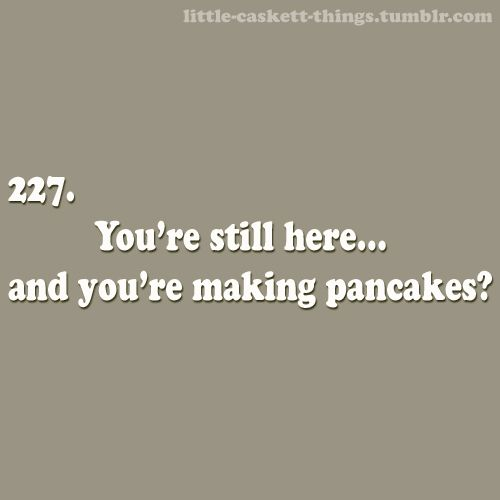"""""""You're still here... and you're making pancakes?""""  He stared at the boy while flipping one, caught it in midair in his mouth, and chewed. And chewed. """"Tough as tires."""" He grabbed the syrup and poured some in, gargling.   The boy grimaced. """"You were supposed to leave.""""   He frowned, propping his cloven hooves on the rungs of the barstool. """"Oh, right. Well, one thing you'll learn while questing, is to never travel on an empty stomach, Kale.""""    """"Basil. My name is Basil."""""""